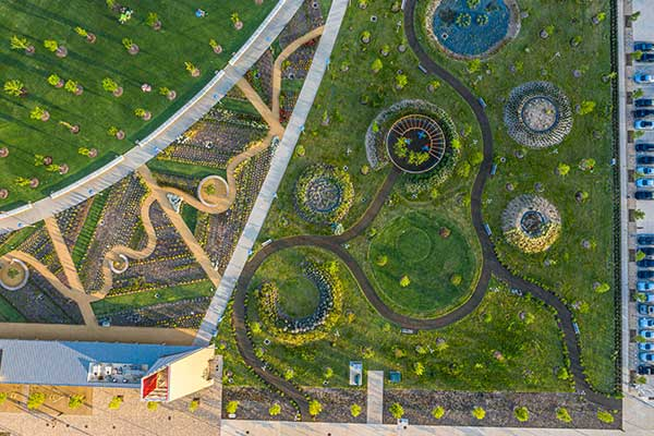 Hardscape project at Scissortail Park (Photo: Ruppert Landscape)