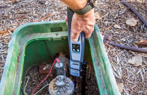 The EZ-DT diagnostic tool uses wireless technology to streamline installation and maintenance of EZ Decoder Systems. (Photo: Hunter Industries)