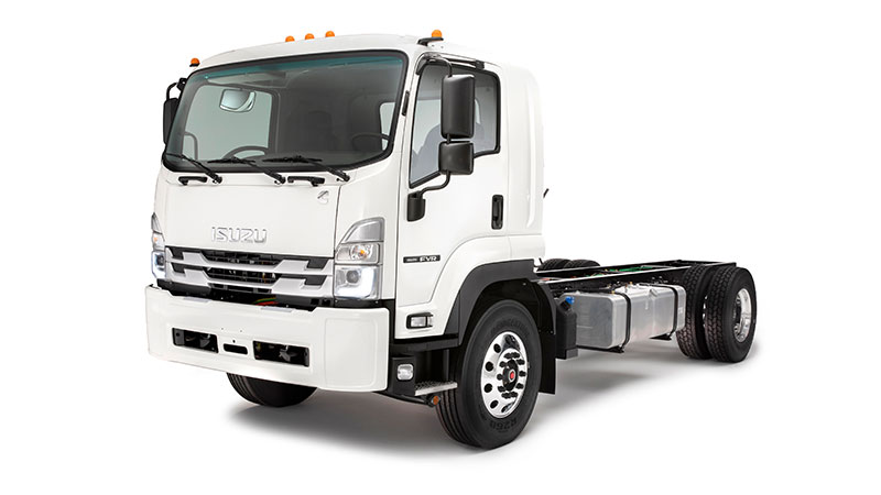 The Isuzu FVR will include a Cummins B6.7 diesel engine will now be featured on all new 2022 Isuzu F-Series trucks. (Photo: Isuzu Commercial Truck of America)