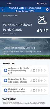 Screenshot: Weathermatic SmartLink