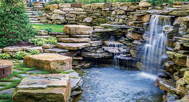 Waterfall and pond (Photo: Exscape Designs)