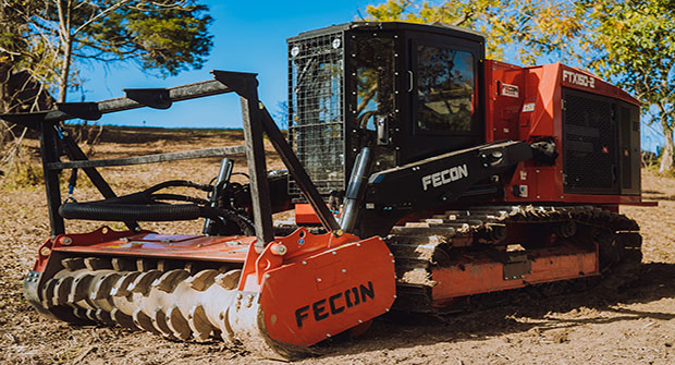 The redesigned FTX150-2 mulching tractor. (Photo courtesy of Fecon)