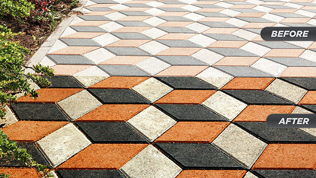 The new STAIN-PROOF paver enhancing sealer created to deliver color enhancement and long-lasting protection for a variety of man-made surfaces. (Photo courtesy of ICP Building Solutions Group)