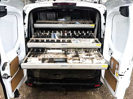 Irrigation van setup (Photo: Rain One Irrigation & Drainage)