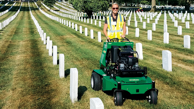 Neneman volunteers during NALP's Renewal & Remembrance event at Arlington National Cemetery. (Photo courtesy of Ahsly Neneman)