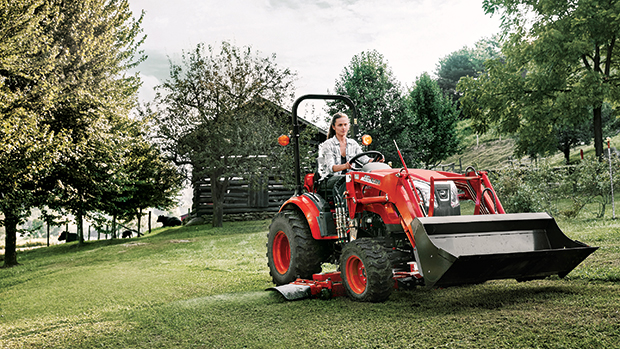 Kioti developed its tractors so they can be fitted with a variety of attachments. (Photo courtesy of Kioti)