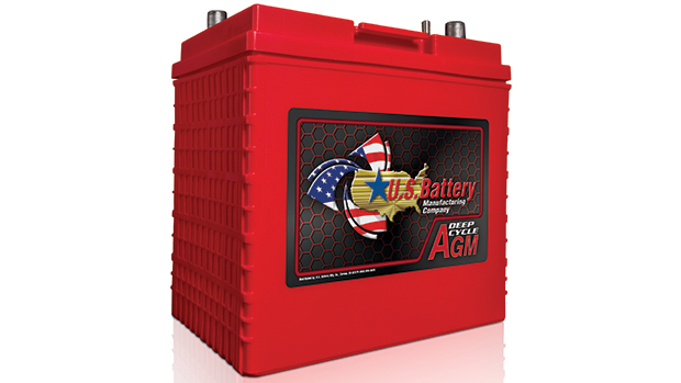 U.S. Battery has released an updated AGM battery line with a new look, featuring a new case and graphics on redesigned labels. (Photo courtesy of U.S. Battery)