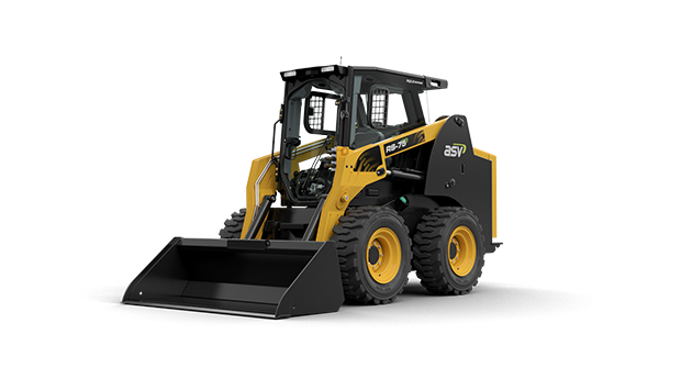 ASV has added the RS75 skid-steer to its MAX-Series lineup featuring 2,600-pound rated operating capacity and a 5,845-pound breakout force. (Photo courtesy of ASV Holdings)