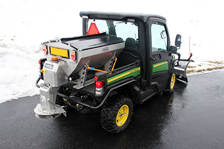 Hilltips IceStriker 500 can be used in conjunction with UTVs. (Photo: Hilltip)