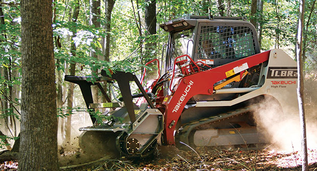 Machine using attachment (Photo: Takeuchi-U.S.)