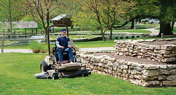 Man on Grasshopper mower (Photo: Grasshopper Co.)
