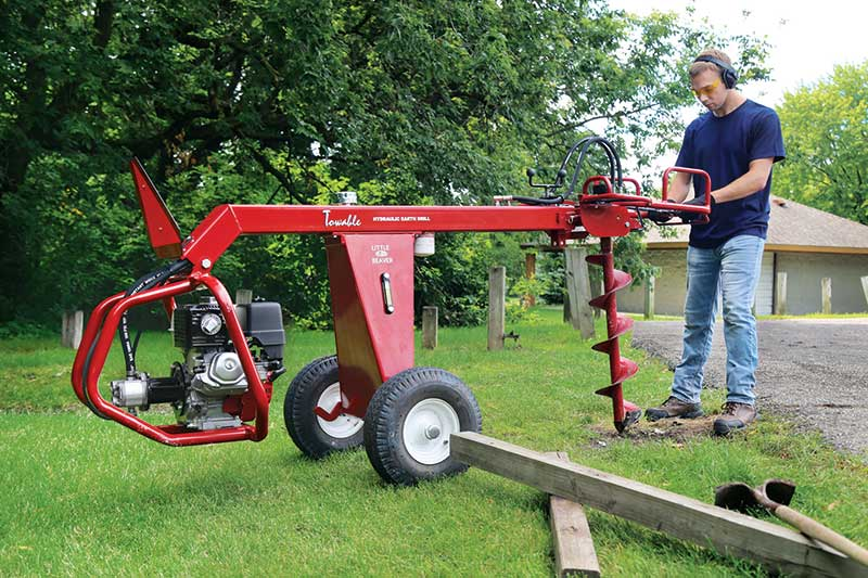 Wheels added to a drill make it more maneuverable with better access in tight spaces. (Photo: Little Beaver)
