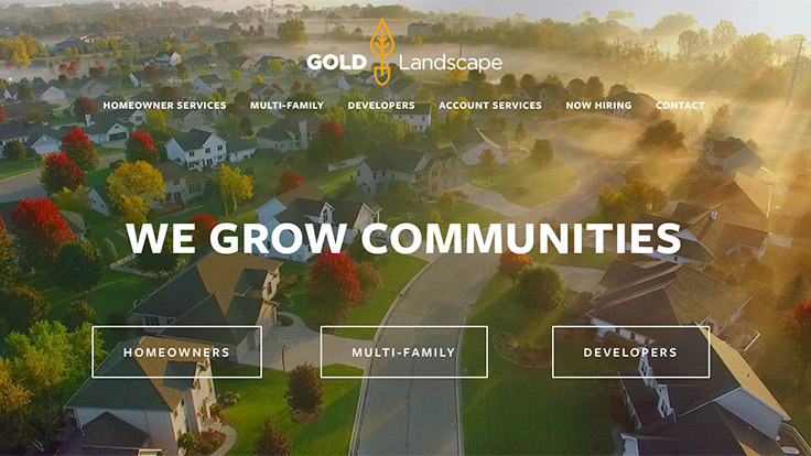 Gold Landscape serves multi-family units, commercial properties and HOAs in the Dallas area. (Screencap: LM Staff)