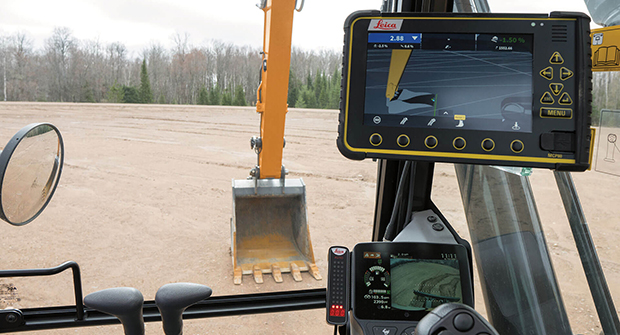 Case D Series excavator with Leica control (Photo: Case Commercial Equipment)