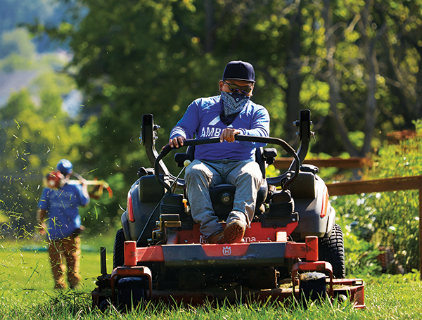Zero-turn mowers serve as the workhorses of mower fleets due to their high productivity. (Photo: Matthew Bender)
