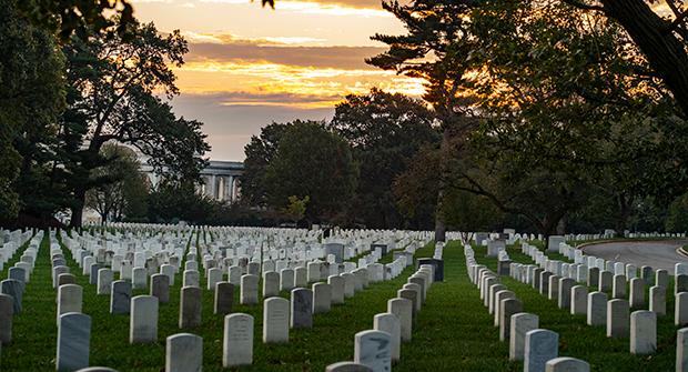 Sunrise at Arlington National Cemetery (Photo: U.S. Army/Elizabeth Fraser)