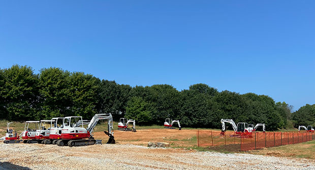 A glimpse of the outdoor demo space at the new Takeuchi Training Center. (Photo: LM Staff)