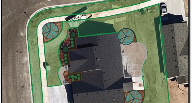 Nearmap aerial images allow landscape companies plan designs (Photo: Nearmap).