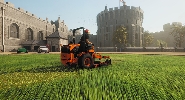 Scag mowers are featured in the Lawn Mowing Simulator video game (Photo: Skyhook games).
