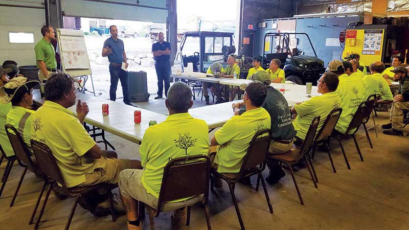 DJFLC employees undergo continuous safety trainings. (Photo: David J. Frank Landscape Contracting)