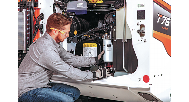 Using parts from a vehicle manufacturer or a remanufactured part certified by the factory will extend machine longevity. (Photo: Bobcat)