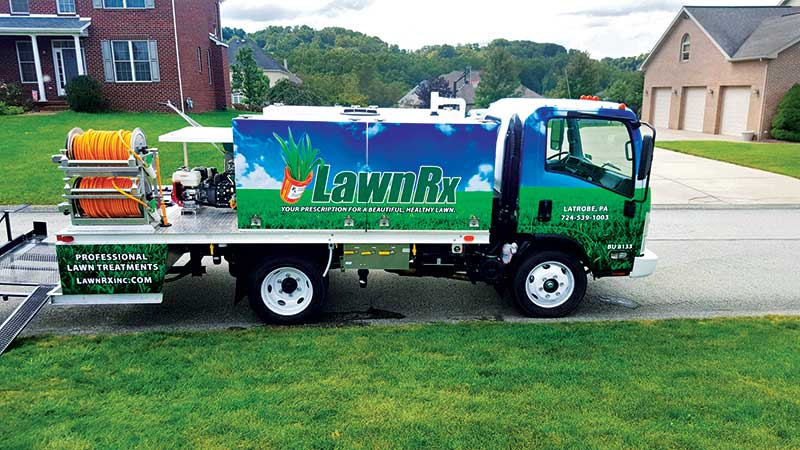 LawnRx knows about how much product it will need each year based on the previous year's numbers. (Photol: LawnRx)