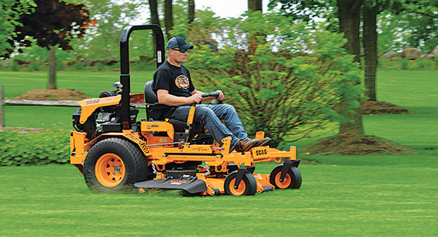 Crew member mowing with Scag mower (Photo: Scag)
